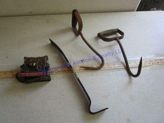 HAY HOOKS AND PRY BAR   BANK