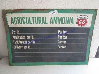 AMMONIA PRICING SIGN