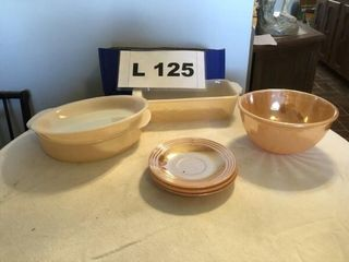 Vintage Fire King Oven Ware Peach