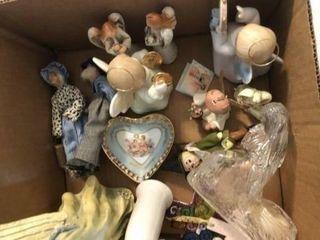 Angel figurines  cherub figurines  ring holder