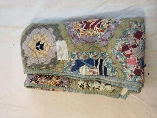 Quilt 72 X 65 5  approx   some wear