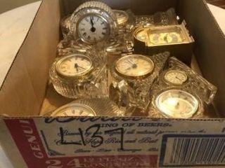 lead crystal clocks