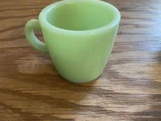 Vintage Fire King jadeite mugs and creamer
