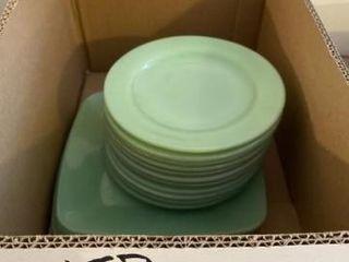 Vintage jadeite square dinner plates