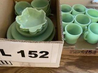 Vintage jadeite dinner plates  coffee mugs