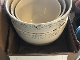 Set of Frankoma mixing bowls
