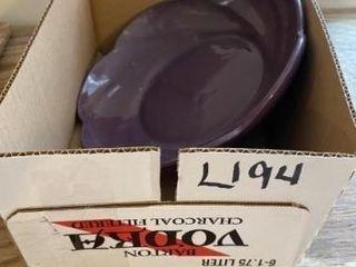 Vintage Frankoma  218 purple scalloped bowl