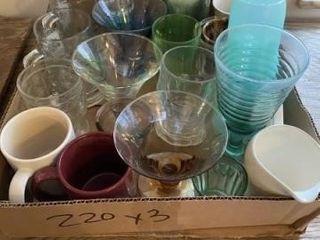 Misc  glass goblets  sunflower beverages glasses