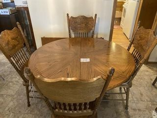 Oak dining room table approx  47 X30