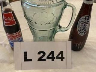 Coca Cola pitcher  Wal mart coke bottle