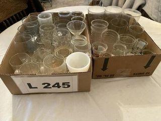 Misc  glasses  shot glasses  wine glasses