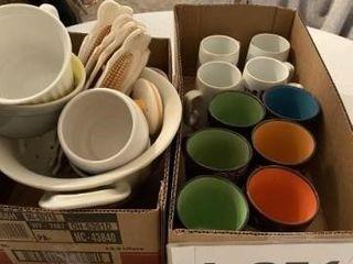 Set of brown coffee mugs  set of ceramic corn