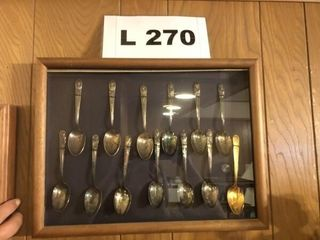 Vintage set of silve plated Presidential spoons