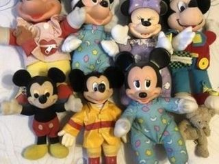 Vintage Mickey and Minnie Mouse stuffed animals