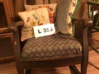 Vintage Mission Oak style rocking chair