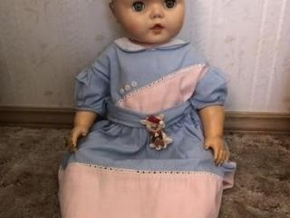 Vintage Uneeda 24  drink  wet doll 25 11 molded