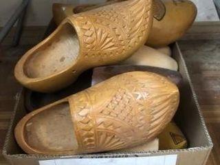 Vintage wooden Dutch clogs