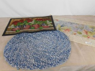 lot of 3 different rugs