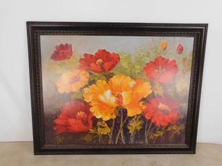 Poppyseed painting hanging wall decor 46 in W X 36 1 2 in