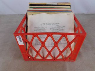 lot of various records including Anne Murray  The three cornered hat  polka music and Oklahoma
