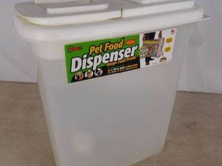 Budeez 22 lbs  pet food dispenser with scoop