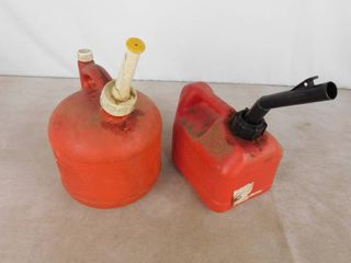 2 gas cans holds 1 gallon each