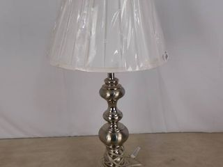 Brushed nickel table lamp 31 1 2 in H