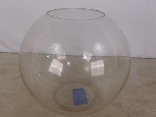 large glass decorative bowl 1 ft H