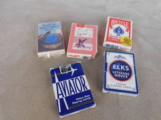 lot of 5 decks of playing cards