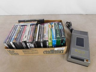 Kinyo super slim VHS player and lots of assorted DVD s