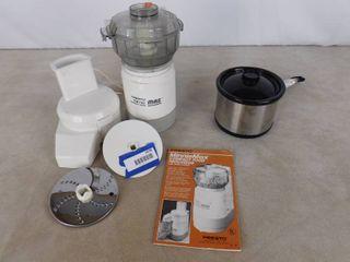 Presto minnie max compact food processor and Intertex mini slow cooker