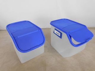 2 storage containers 9 in H X 7 in W X 10 1 2 in D