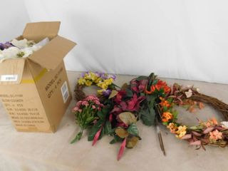 lot of assorted faux decorative flowers