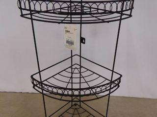 3 tier metal decorative corner basket holders 20 1 2 in H
