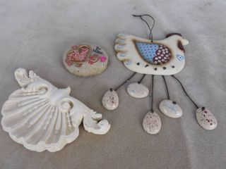 Chicken wind chime  be mine decorative rock and hanging wall decor
