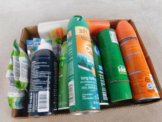 lot of 6 cans of bug spray and 5 mosquito repellent bands