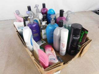 lot of misc  hair care  shampoo s and conditioner s