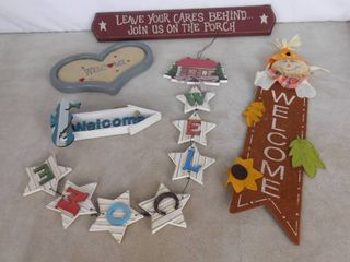 lot of 5 welcome signs
