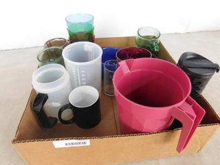 lot of misc  cups and one pitcher