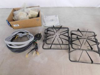 4 stove top burner stands  with dryer hoses and weather strip seal