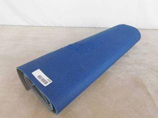 blue foam yoga mat
