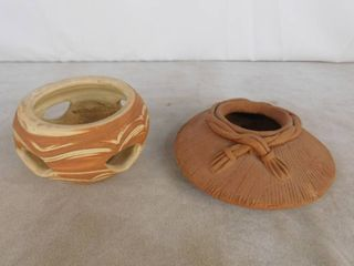 Mexican clay pottery bowl and decorative clay pottery bowl