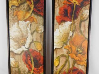 2 At home floral hanging picture decor 14 in W X 38 in H
