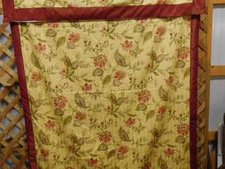 Two curtain panels 60 in W X 81 in l