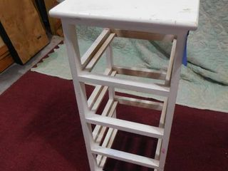 White wood drawer stand 29 in H X 12 in X 12 in