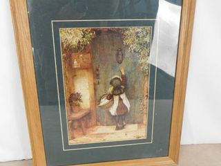 little girl knocking on door hanging wall decor 22 1 2 in l X 18 1 2 in W