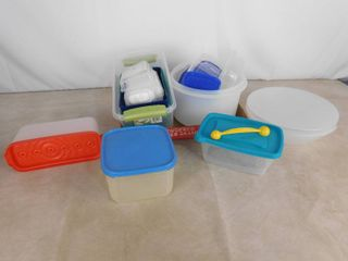 lot of assorted plastic food containers
