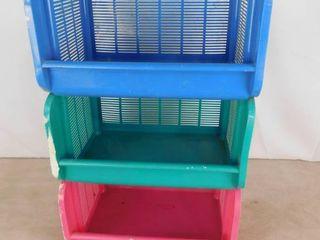3 tiered plastic storage shelves
