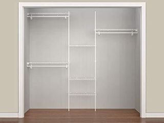 ClosetMaid 5636 SuperSlide 5 Feet to 8 Feet Closet Organizer Kit  White
