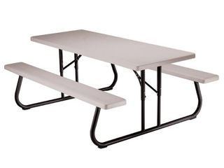 lifetime 6 Foot Folding Picnic Table  Putty  22119